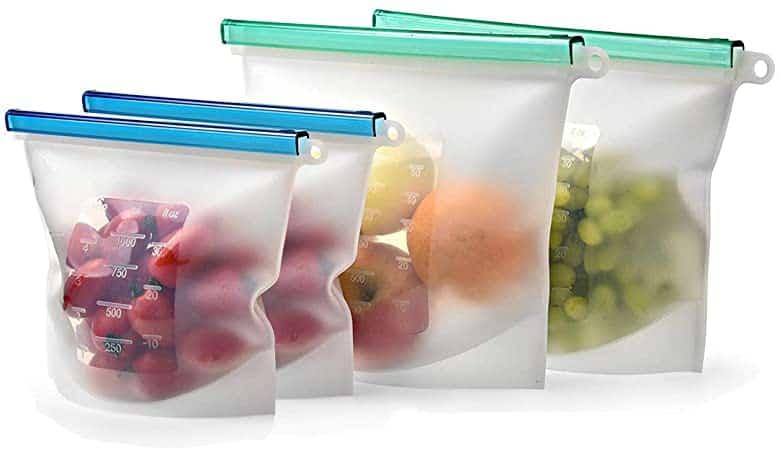 Sacchetti in silicone per alimenti