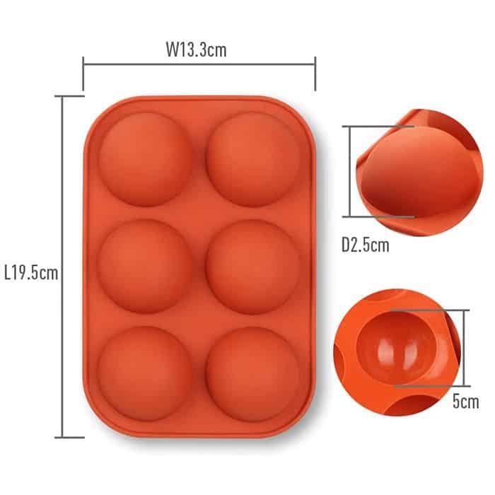 Stampi in silicone mezza sfera