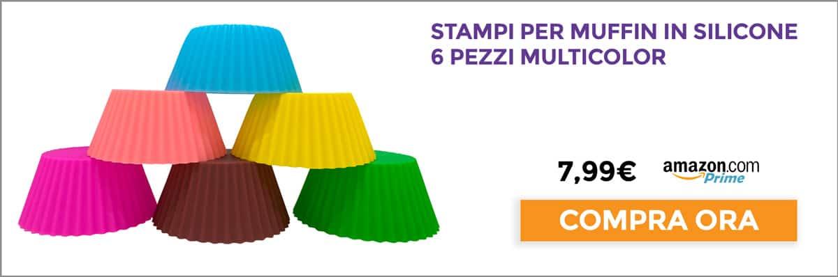 Pirottini riutilizzabili per muffin in silicone