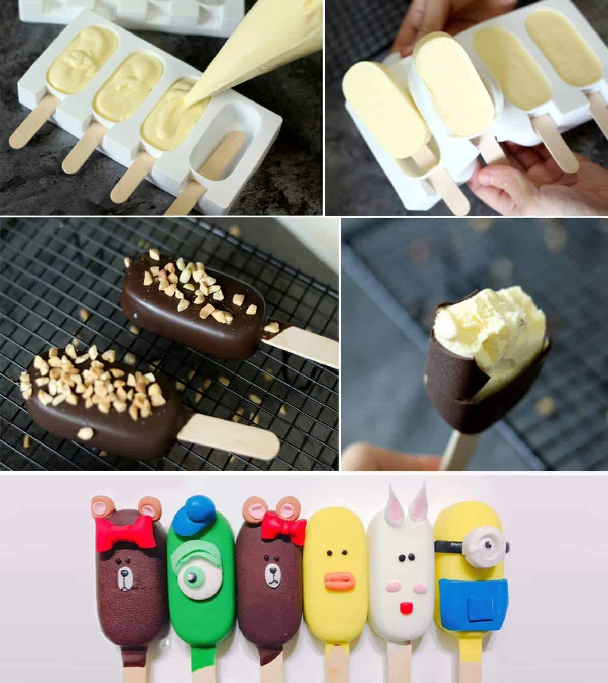 Stampi per gelati in silicone