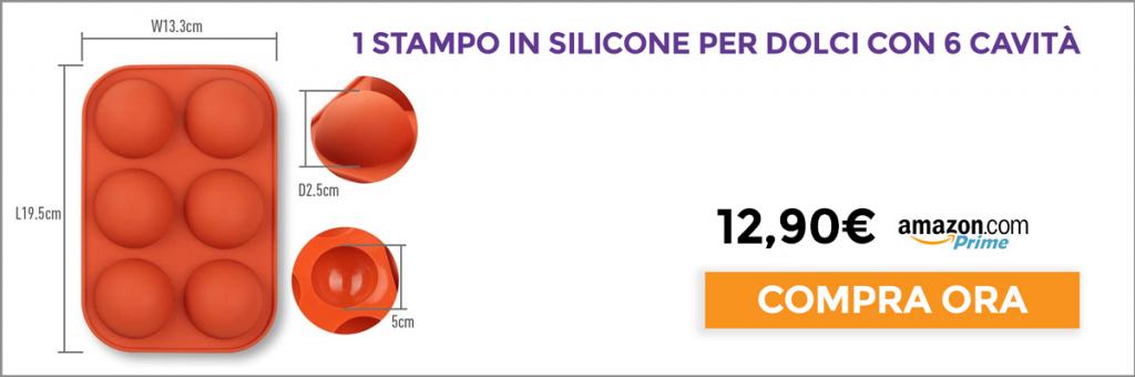 Stampo in silicone per dolci con 6 cavità