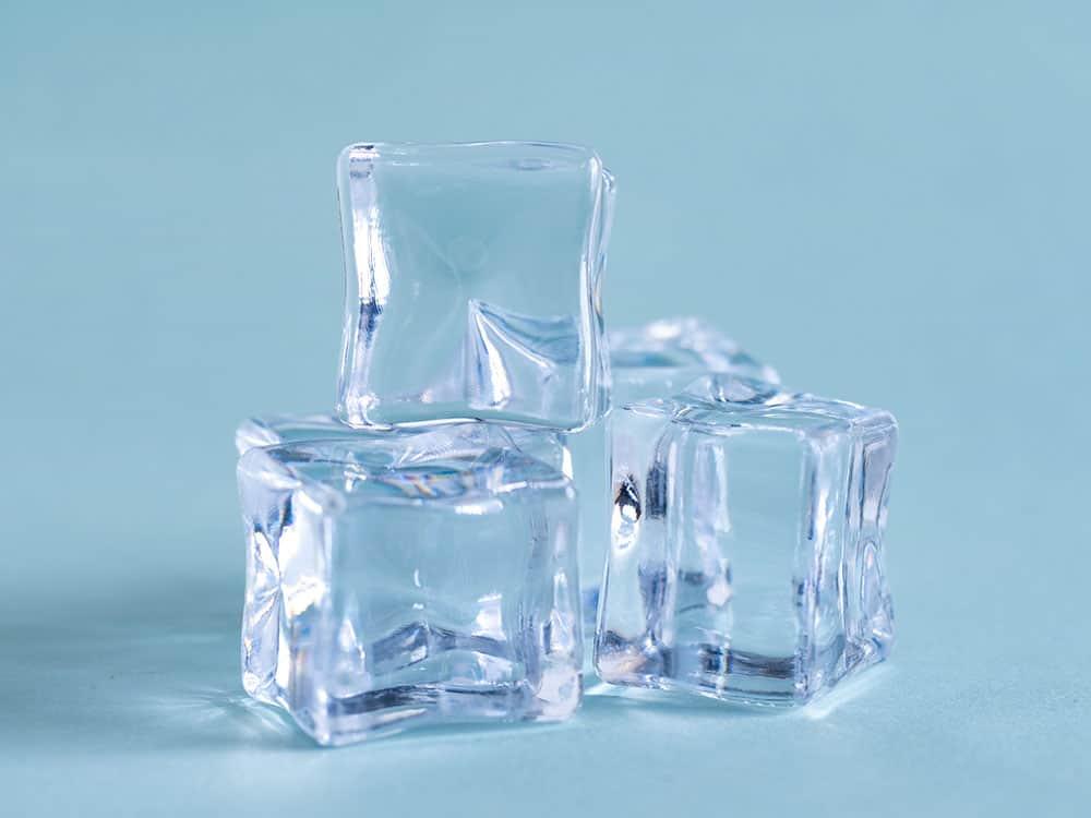 Cubetti di ghiaccio in plastica riutilizzabili